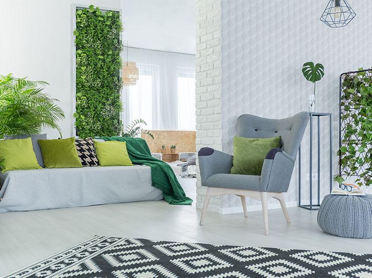 ตกแต่งห้องนั่งเล่นให้สดชื่น ด้วยพื้นที่สีเขียว