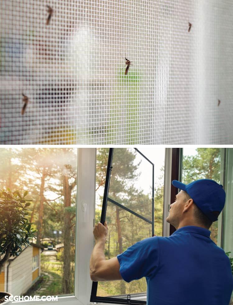 มุ้งลวด ป้องกันแมลง สัตว์พาหะ กันเศษฝุ่นละออง ลดความเข้มของแสงแดด อากาศภายในหมุนเวียนถ่ายเทได้ดี