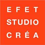 Logo EFET STUDIO CRÉA-Design graphique et numérique, Design et architecture d'intérieur, Ecole de design
