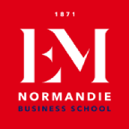 Logo EM Normandie - Old School, Young Mind - École de Management