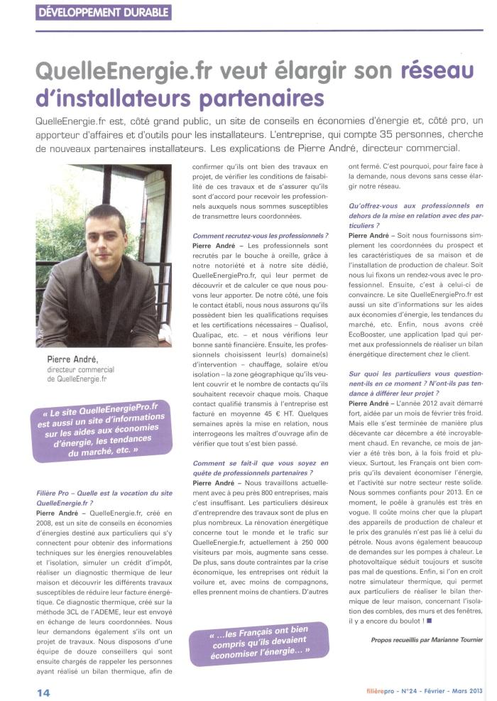 Interview de Pierre André de Quelle Energie