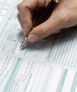 Déclaration d'impôt 2012