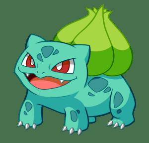 Pokémon de type plante : Bulbizarre