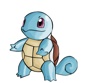 Pokémon de type eau : Carapuce