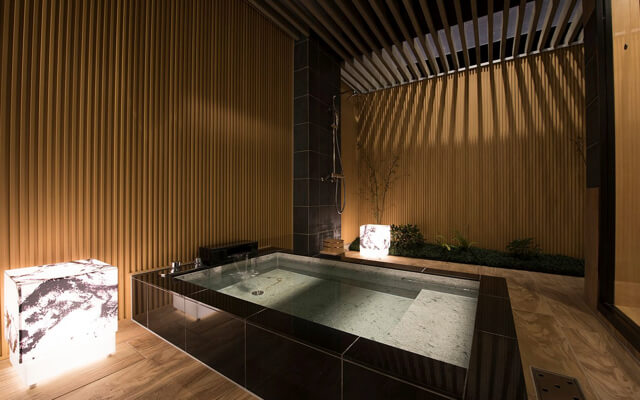 開放的な露天風呂!