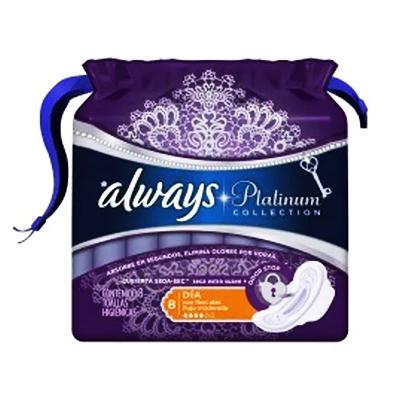 Absorvente com abas 8 unidades Always Platinum pacote PCT