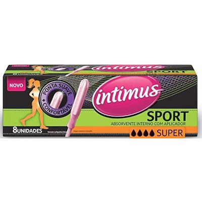 Absorvente interno super com aplicador pacote 8 unidades Intimus Sport PCT