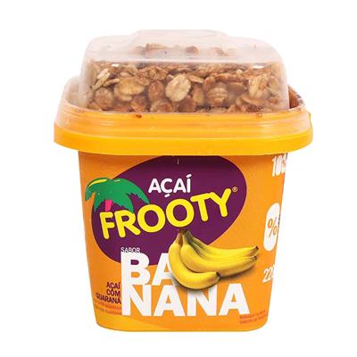 Açaí com banana e granola pote 200g Frooty POTE