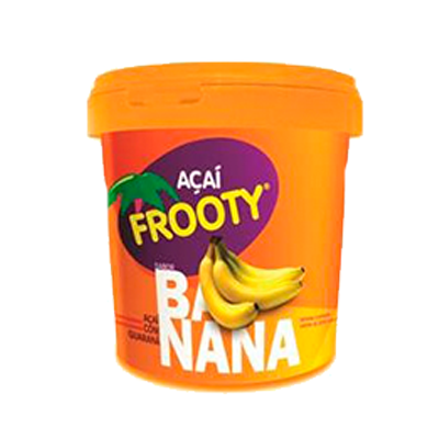 Açaí com banana 1kg Frooty pote POTE