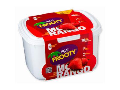 Açaí com morango pote 2kg Frooty POTE