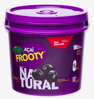 Açaí natural 10kg Frooty balde BD