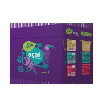 Açaí natural 5kg Eco Fresh caixa CX