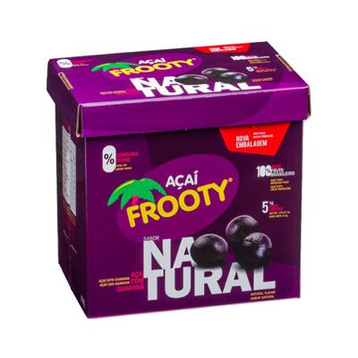 Açaí natural 5kg Frooty caixa CX