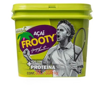 Açaí natural com guaraná + proteína 3,6kg Frooty/Guga Kuerten pote POTE