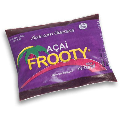 Açaí natural 200g Frooty em sachês UN
