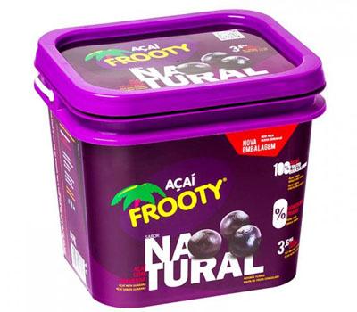 Açaí natural pote 3,6kg Frooty POTE