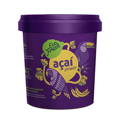 Açaí natural 500g Eco Fresh pote POTE