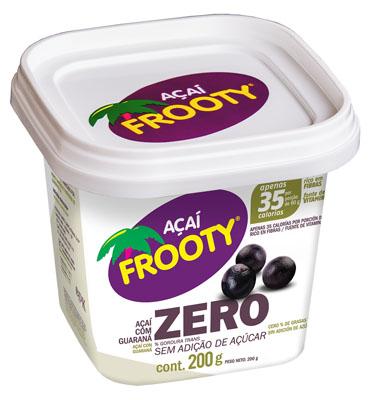 Açaí natural zero açúcar 200g Frooty pote POTE