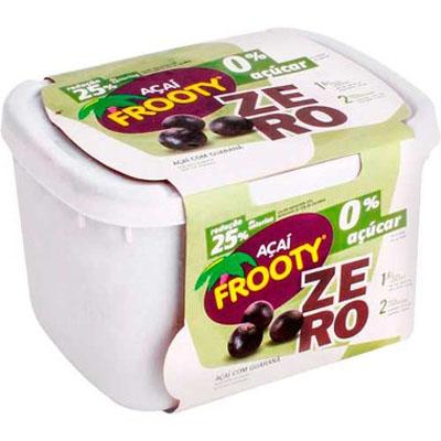 Açaí natural zero açúcar 2kg Frooty pote POTE