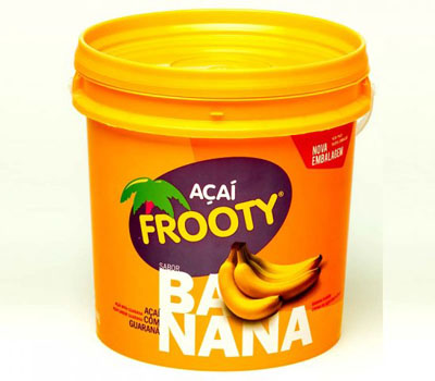 Açaí sabor banana balde 3,6kg Frooty BD