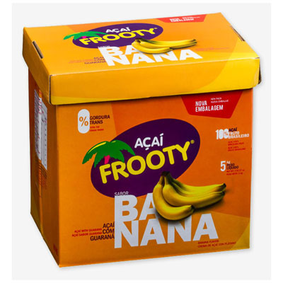 Açaí sabor banana 5kg Frooty caixa POTE