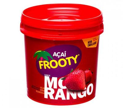 Açaí sabor morango balde 3,6kg Frooty BD