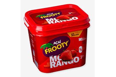 Açaí sabor morango caixa 5kg Frooty CX