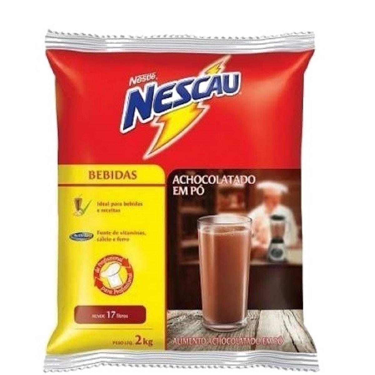 Achocolatado em pó 2kg Nescau pacote PCT