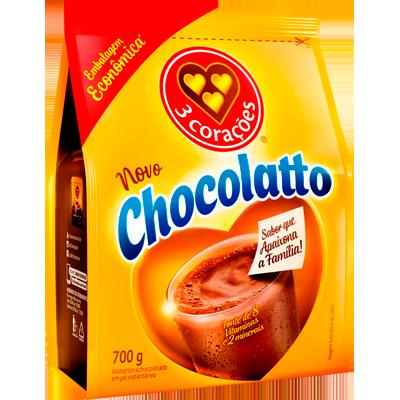 Achocolatado em Pó 700g Chocolatto/3 Corações pacote UN