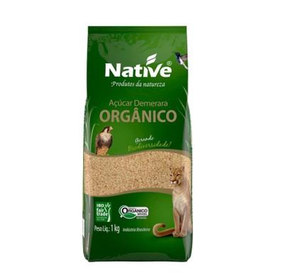 Açúcar cristal demerara orgânico 1kg Native pacote PCT