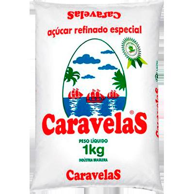 Açúcar cristal 1kg Caravelas/Usina Colombo pacote PCT