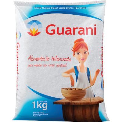 Açúcar cristal 1kg Guarani pacote PCT