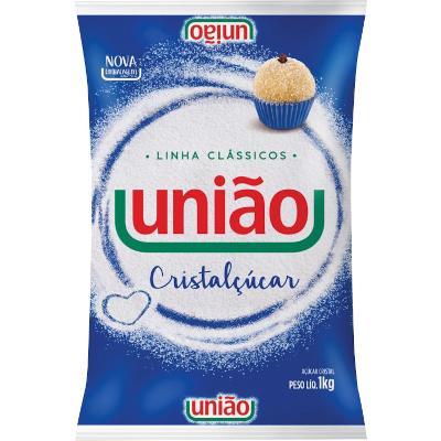 Açúcar cristal pacote 1kg União PCT