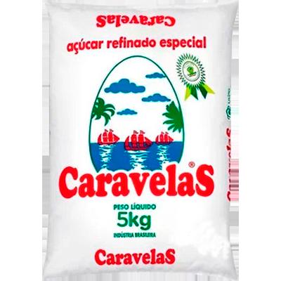 Açúcar cristal 5kg Caravelas/Usina Colombo pacote PCT