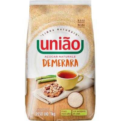 Açúcar Demerara Naturale pacote 1kg União PCT