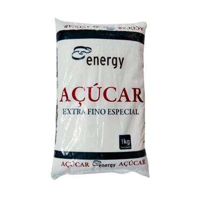 Açúcar extra fino 1kg Energy pacote PCT