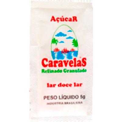 Açúcar refinado unidades de 5/6g Caravelas em sachês UN