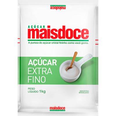 Açúcar refinado 1kg Mais Doce pacote PCT