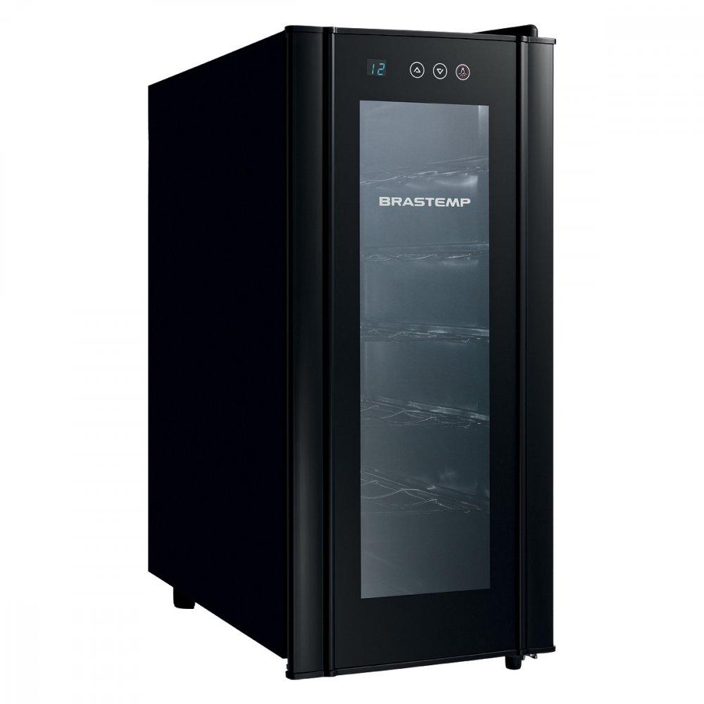Adega Climatizada 12 Garrafas All Black BZC12BE Preta 110v unidade Brastemp  UN
