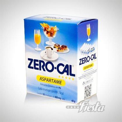 Adoçante em Pó Aspartame (50 sachês) Zero Cal caixa CX