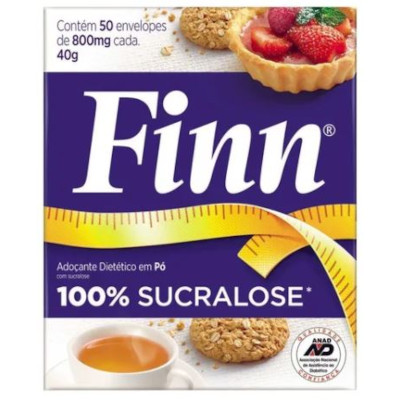 Adoçante em Pó Sucralose caixa (50 unidades) Finn CX