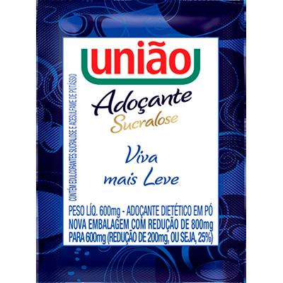 Adoçante em Pó Sucralose unidades de 0,5/0,8g União em sachês UN
