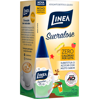Adoçante Líquido Sucralose 75ml Linea frasco UN