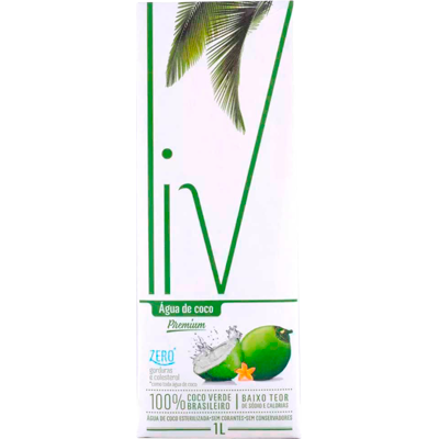 Água de coco Tetra Pak 1Litro LIV UN