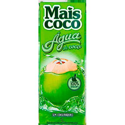 Água de coco  1Litro Mais Coco Tetra Pak UN
