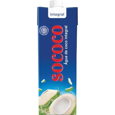 Água de coco  1Litro Sococo Tetra Pak UN