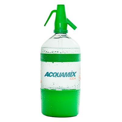 Água gaseificada 1,5Litros Acquamix com sifão retornável UN