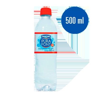 Água mineral natural com gás pet 500/510ml Danone UN