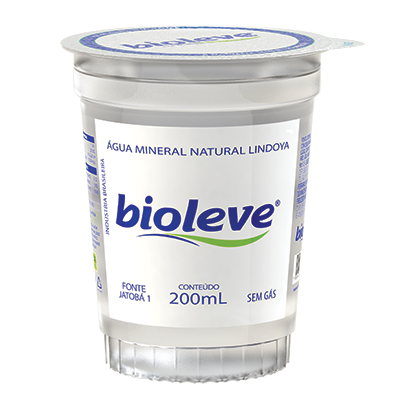 Água mineral natural 200ml Bioleve copo UN