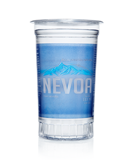 Água mineral natural 300ml Névoa copo UN